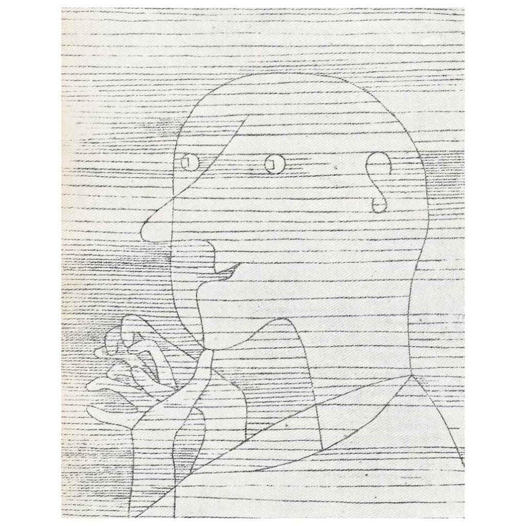 Resim 8, Paul Klee, Düşünen Yaşlı Adam, 1929