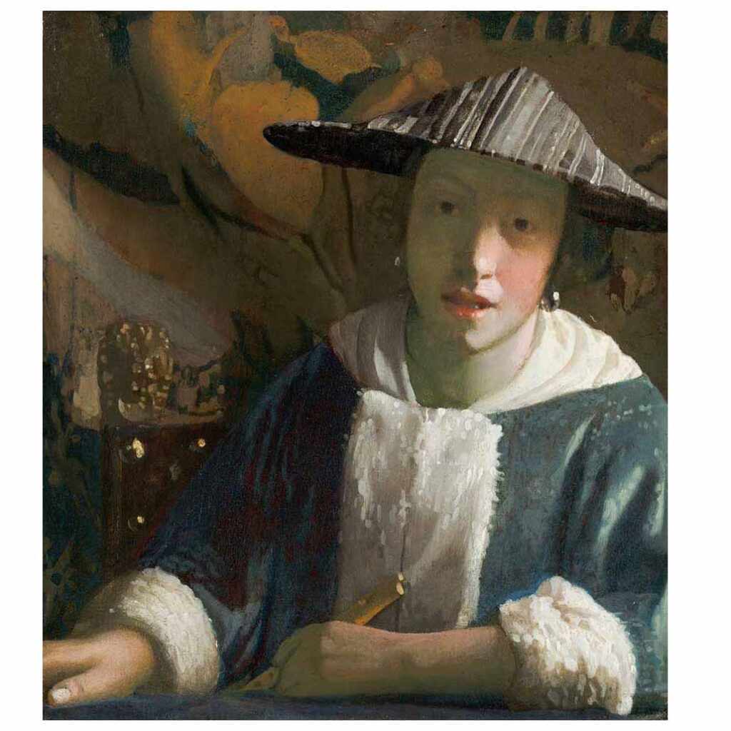 Resim 10, Jan Vermeer, Flütlü Kız, 1664