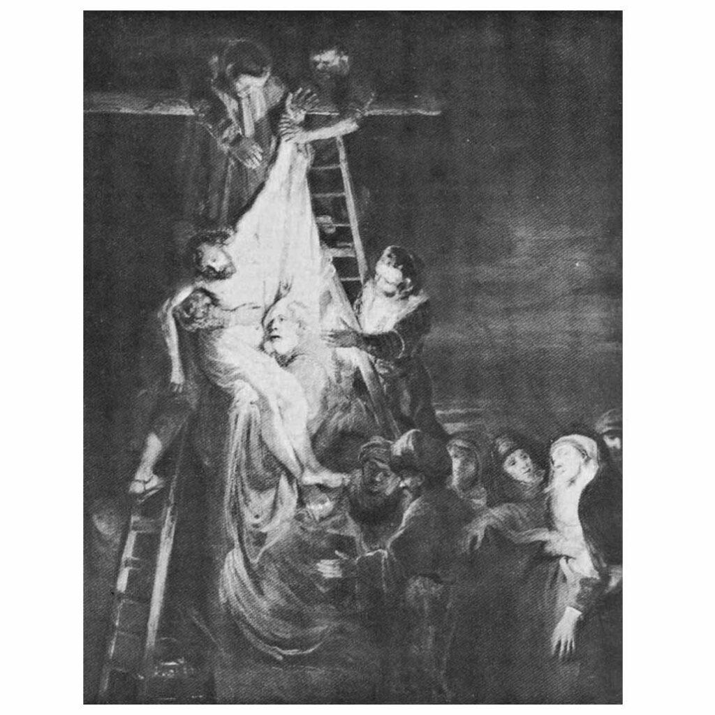 Resim 11, Rembrandt, Çarmıhtan İndiriliş, 1651