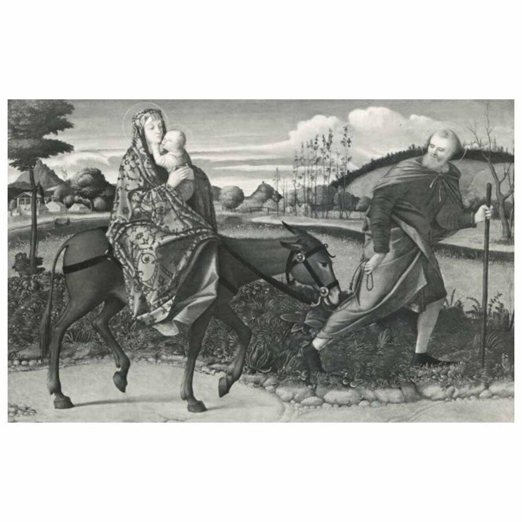 Resim 09, Giovanni Bellini, Mısır'a Göç, 1480