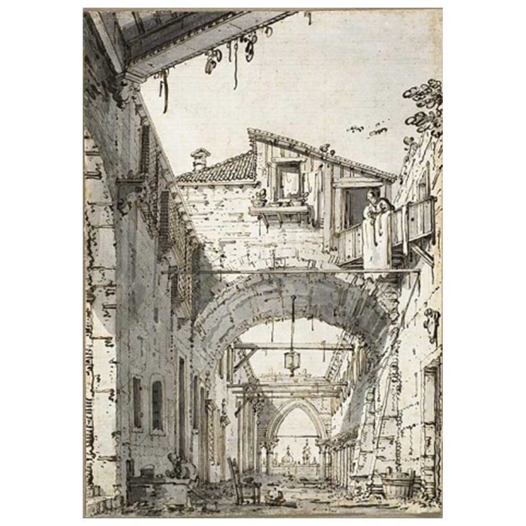 Resim 04, Antonio Canaletto, Harab bir Evin Avlusu, 1760