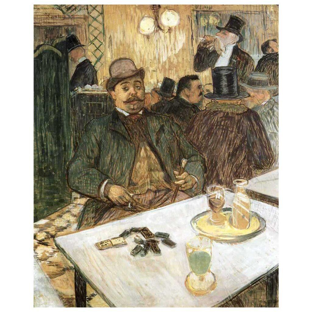 Resim 05, Henri de Toulouse Lautrec, Monsieur Boileau Kahvede, 1893