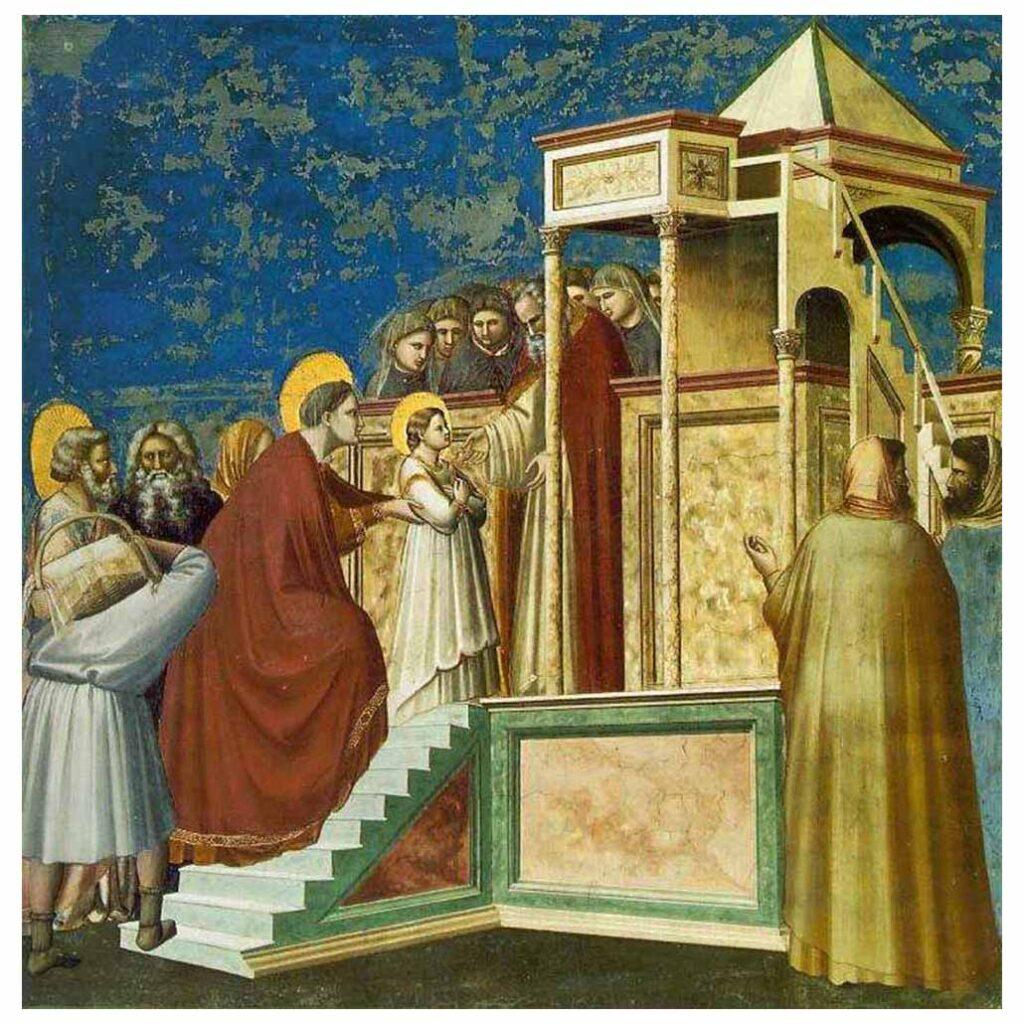 Resim 04, Giotto di Bondone, Meryem'in Tanıştırılması, 1303