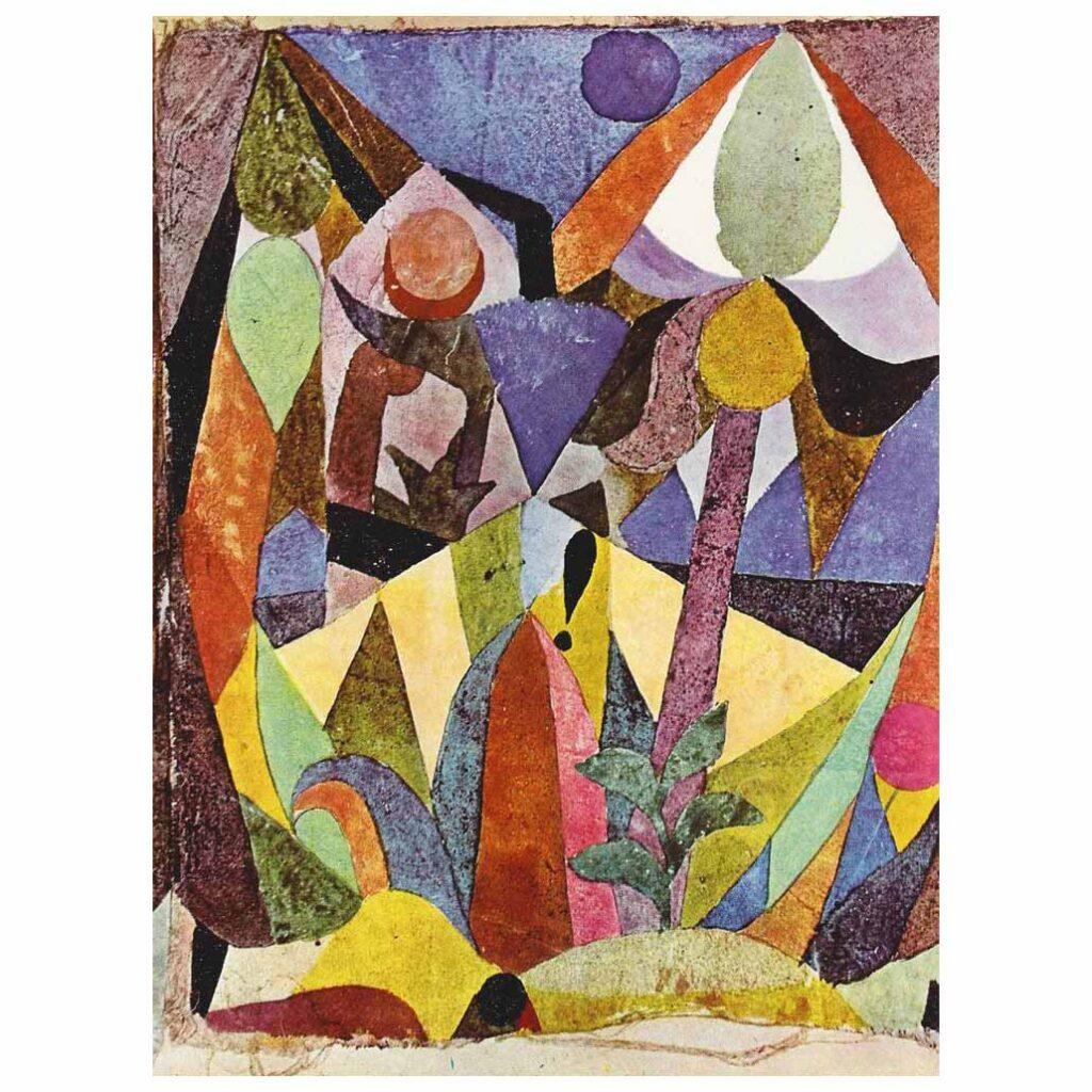 Paul Klee, Aşağı Tropik Manzara, 1918