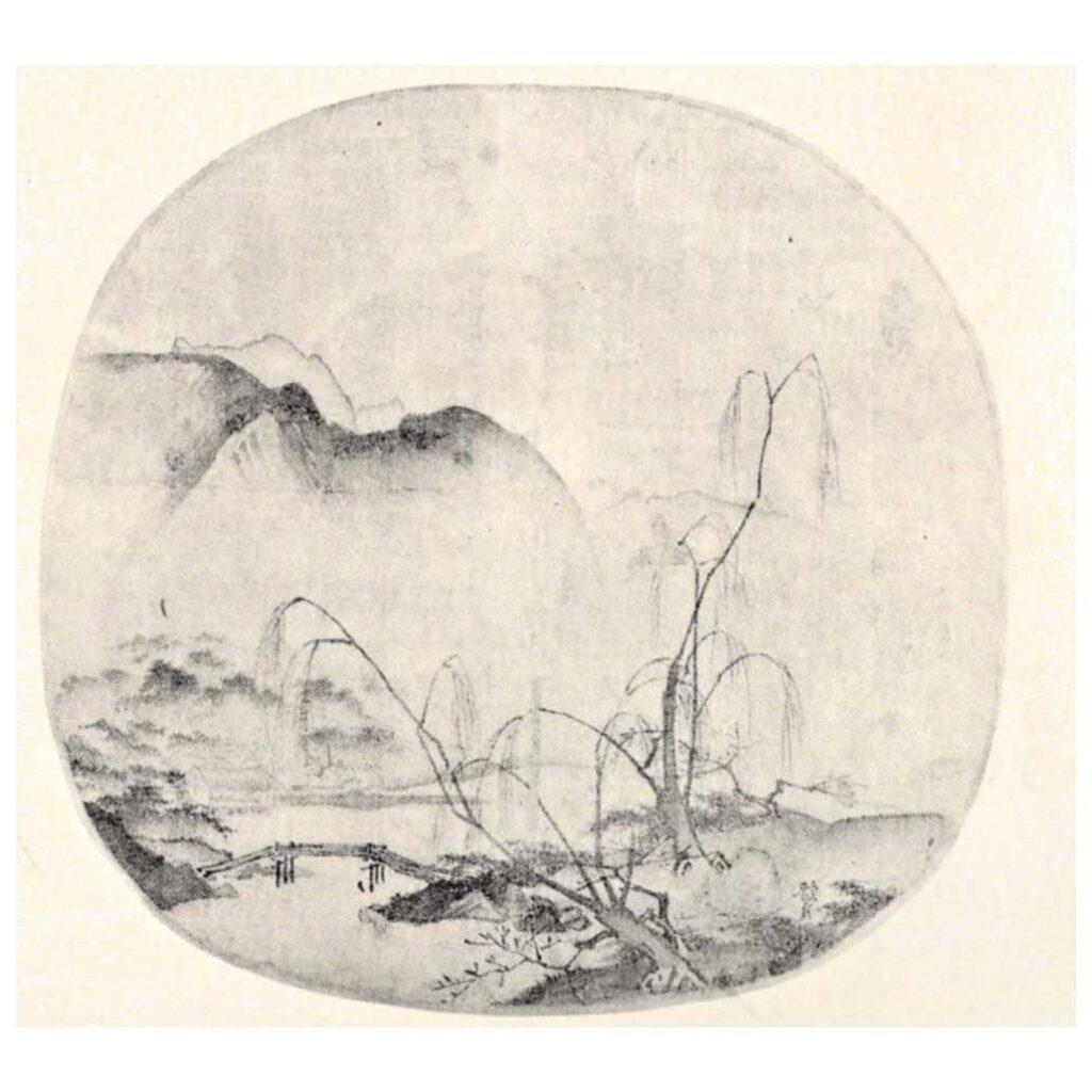Resim 3, Ma Yuan, Çıplak Söğütlerle Uzak Dağlar, 13. yy başları