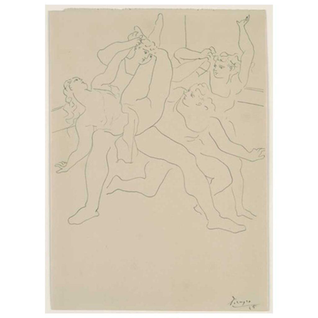 Resim 4, Picasso, Dört Bale Dansçısı, 1925