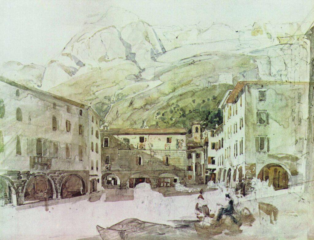 Thomas Ender Tirol'de Pazar Meydanı