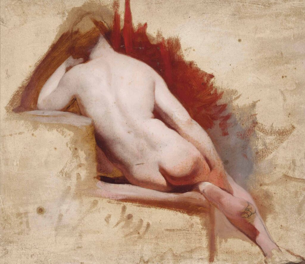 William Etty Oturan Nü Etüdü