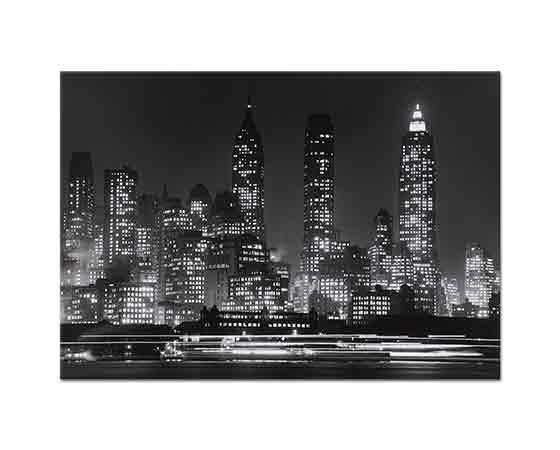 Andreas Feininger Gece Vakti Manhattan