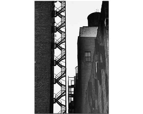 Andreas Feininger Yangın Merdiveni New York