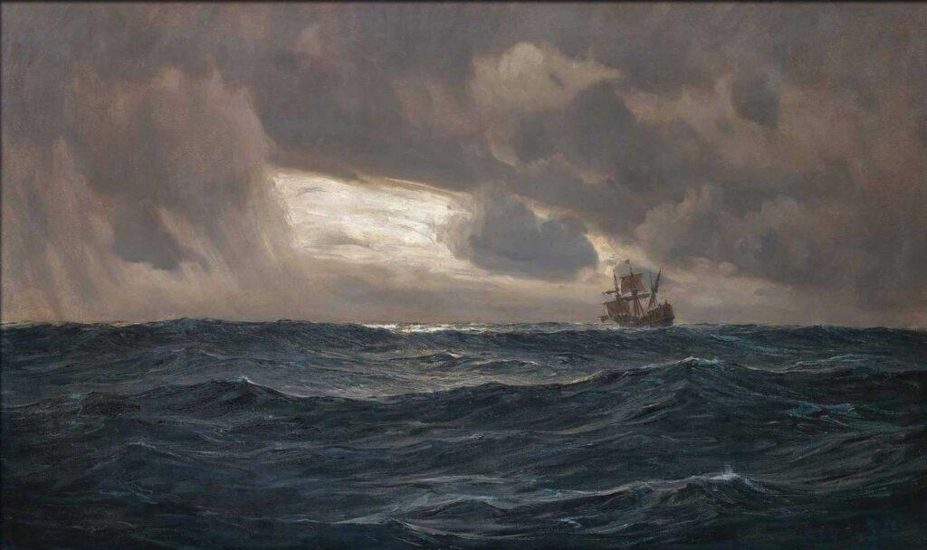 Ayvazovski Açık Deniz ve Yelkenli