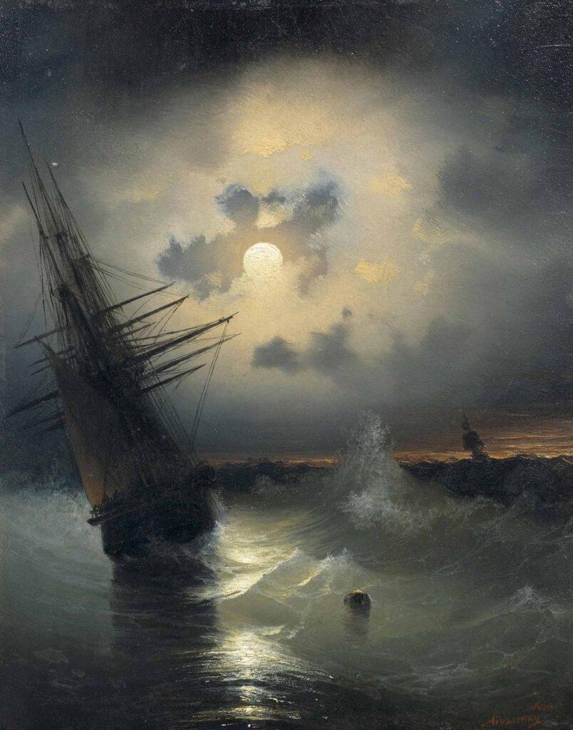 Ayvazovski Ay Işığında Yolculuk