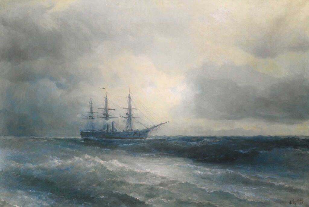 Ayvazovski Buharlı Gemi