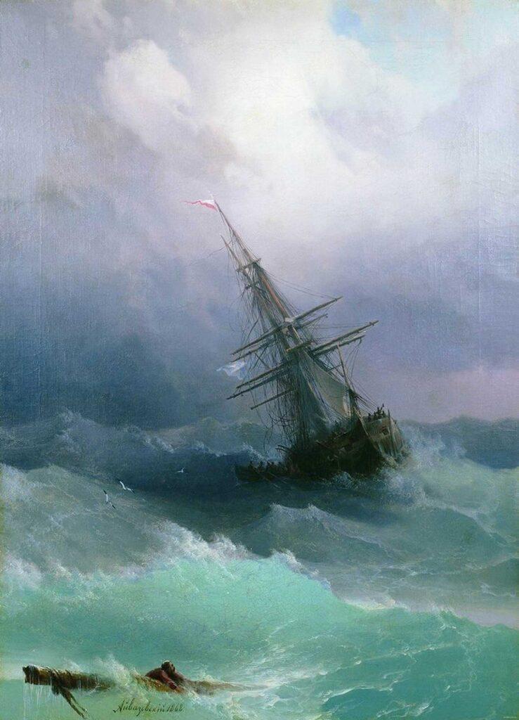 Ayvazovski Fırtınada 1868 Tarihli
