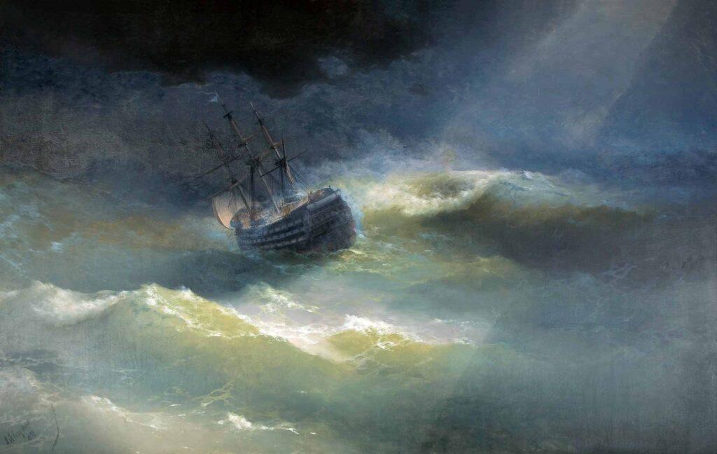 Ayvazovski Fırtınaya Yakalanmış Mary