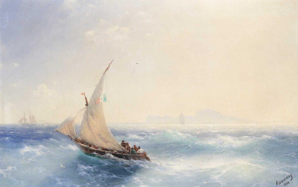 Ayvazovski Ischia Adasında Yelkenliler