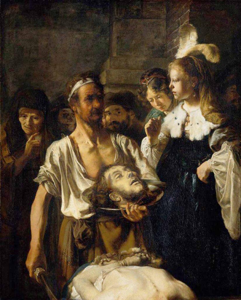 Carel Fabritius Vaftizci Yahya'nın Katli