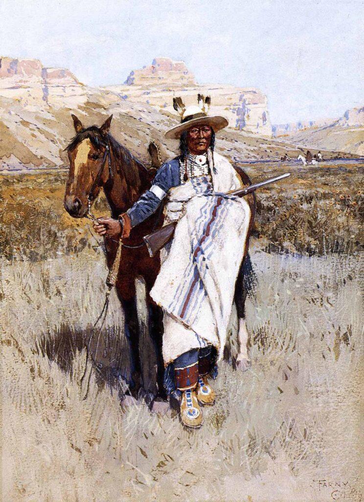 Henry Farny Kızılderili Avcı