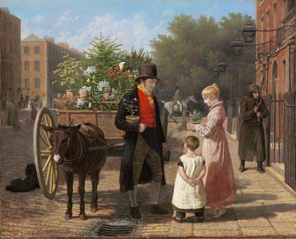 Jacques Laurent Agasse çiçek satıcısı