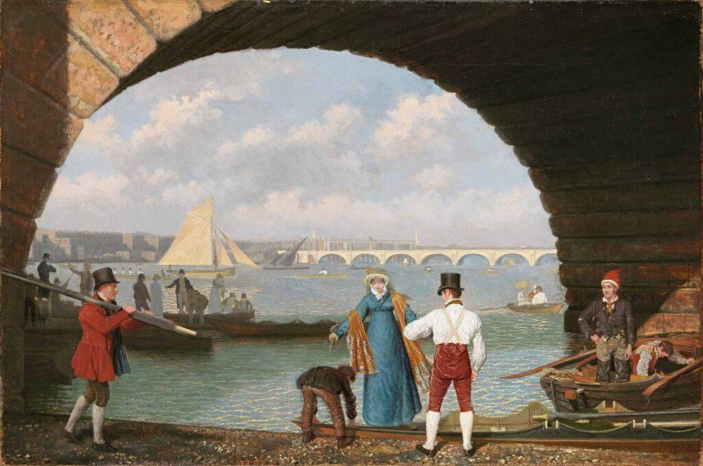 Jacques Laurent Agasse Westminster Köprüsüne Varış