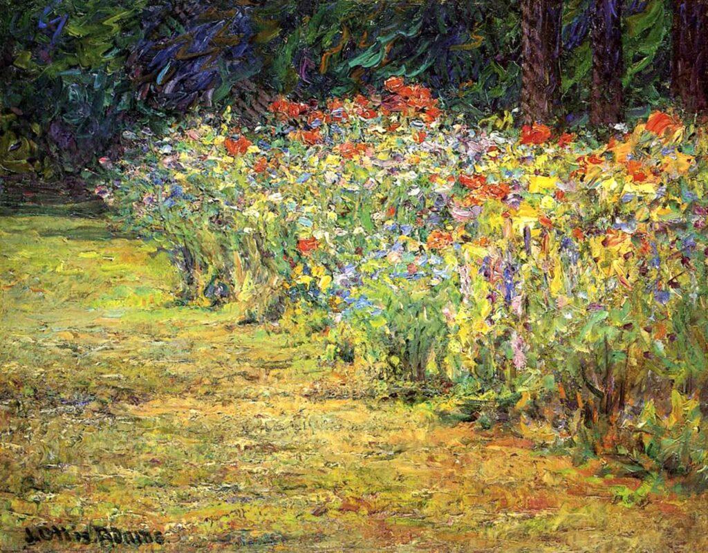 John Ottis Adams Bahçede Süsenler