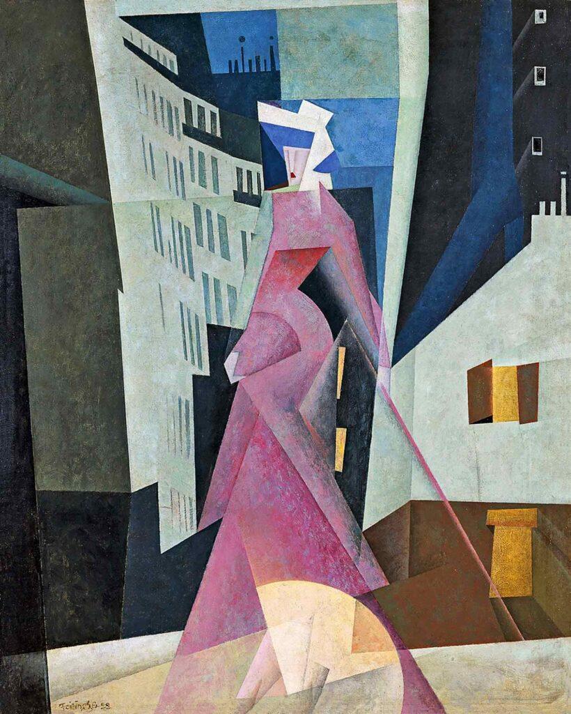 Lyonel Feininger Yoldaki Kadın