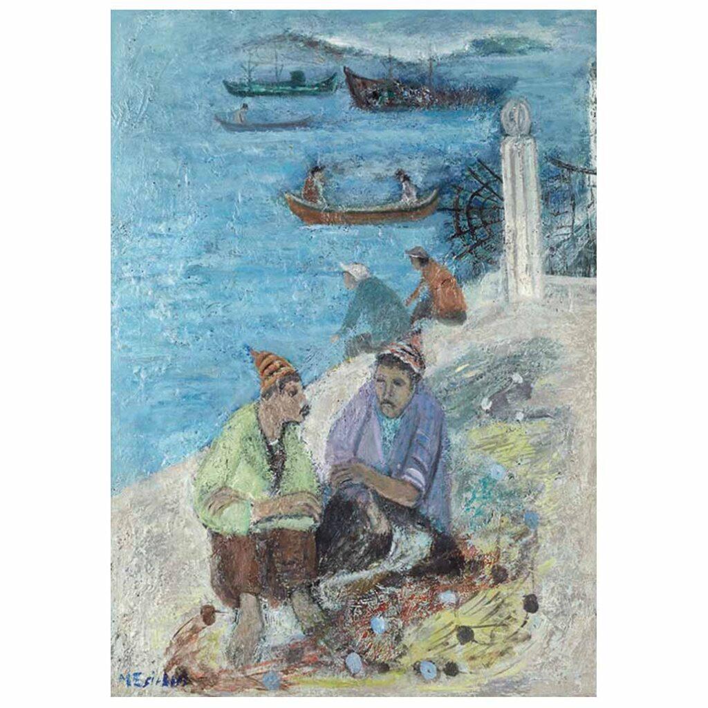 Dolmabahçe'de Balıkçılar