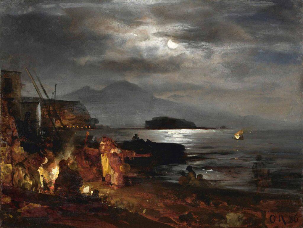 Oswald Achenbach Napoli'de Mehtap