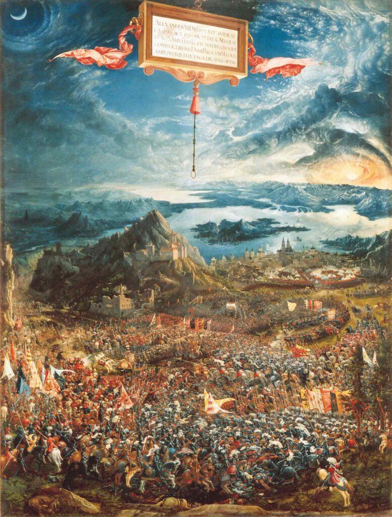 Albrecht Altdorfer İskender'in Issus Savaşı - The Battle of Alexander at Issus