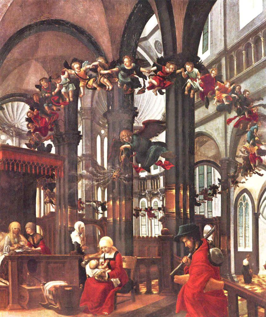 Albrecht Altdorfer Meryem'in Doğumu - The Birth of the Virgin