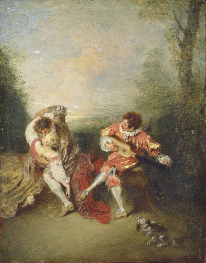 Jean Antoine Watteau Sürpriz - The Surprise