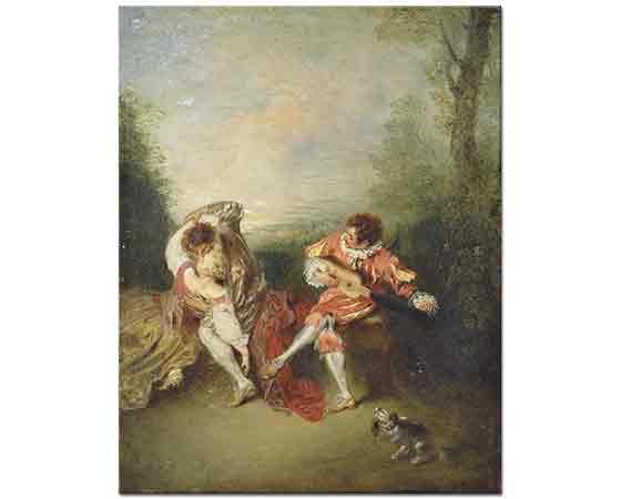 Jean Antoine Watteau Sürpriz - The Surprise