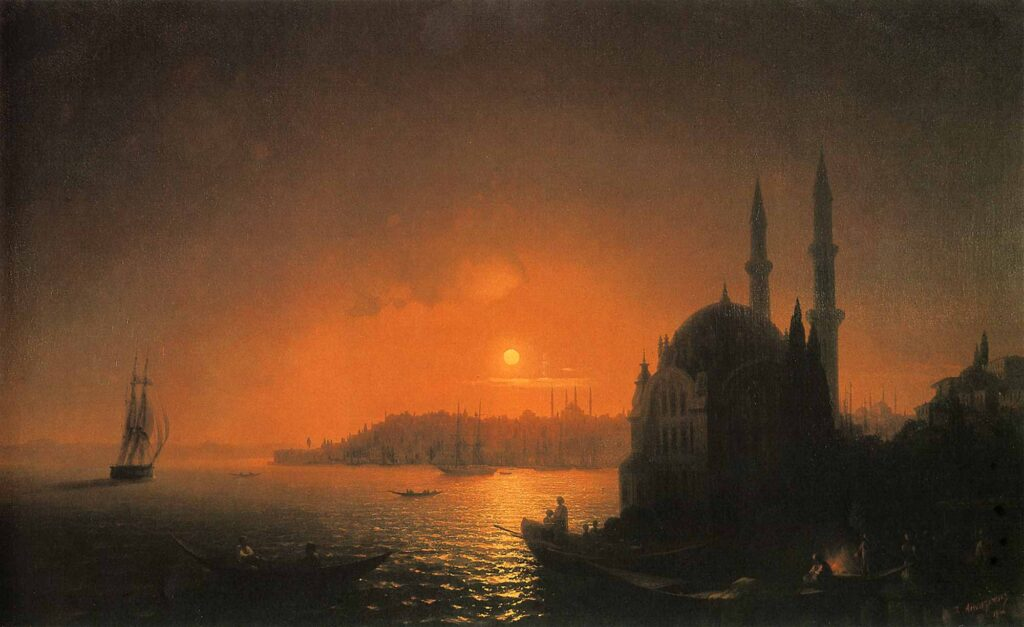 Ayvazovski Ayışığında Ortaköyden Istanbul