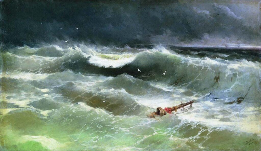 Ayvazovski Fırtına 1886
