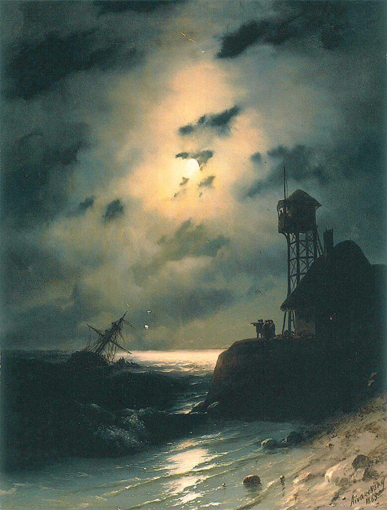 Ayvazovski Mehtap ve Gemi Enkazı