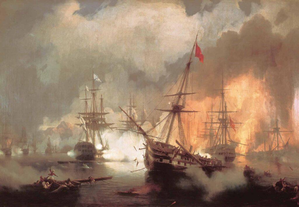 Ayvazovski Navarino Deniz Savaşı
