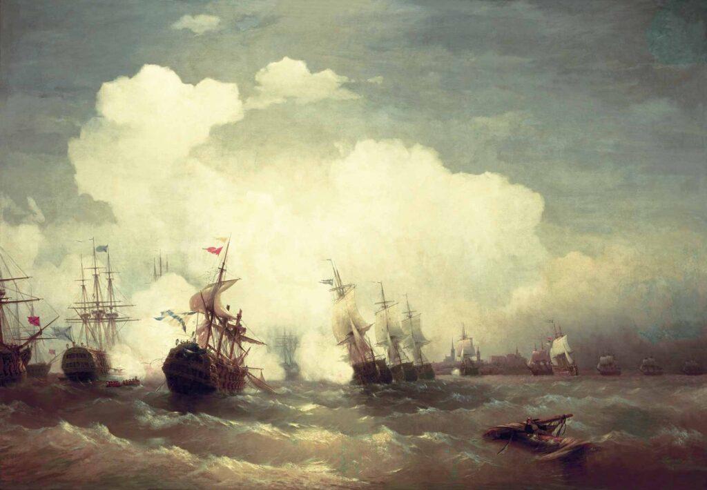 Ayvazovski Revel Deniz Savaşı