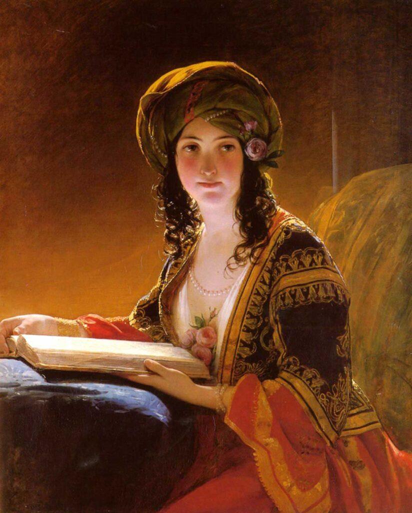 Friedrich von Amerling Doğulu Kadın - Oriental Woman