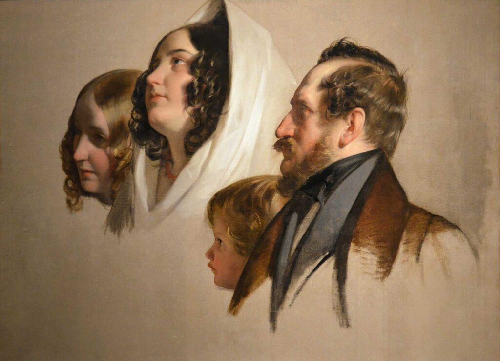 Friedrich von Amerling Portre Eskizi - Portrait Studies