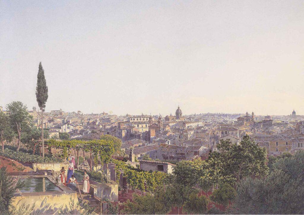 Jakob Alt Roma'ya Bakış - View of Rome