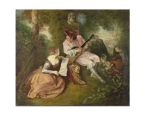 Jean Antoine Watteau Aşk Şarkısı - The Love Song