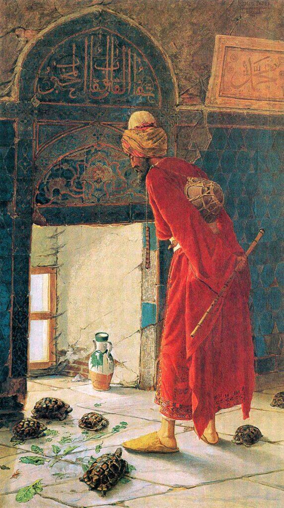 Osman Hamdi Bey Kaplumbağa Terbiyecisi Versiyon