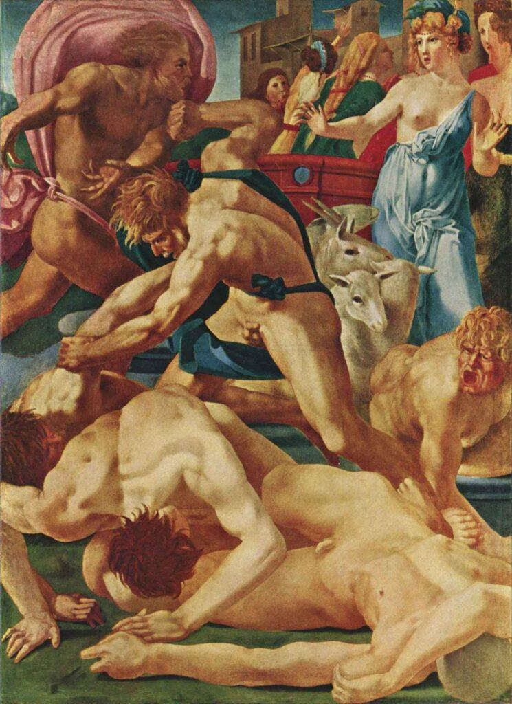 Rosso Fiorentino Hz Musa Jetro'nun Kızlarını Savunurken - Moses Defending the Daughters of Jethro