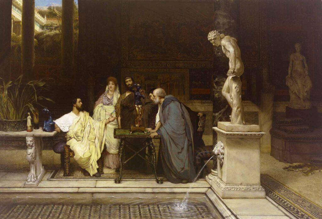 Sir Lawrence Alma Tadema Romalı Sanatseverler - A Roman Art Lover