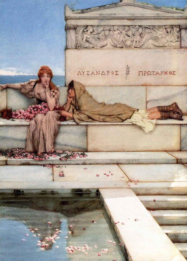 Lawrence Alma Tadema Xanthe ve Phaon