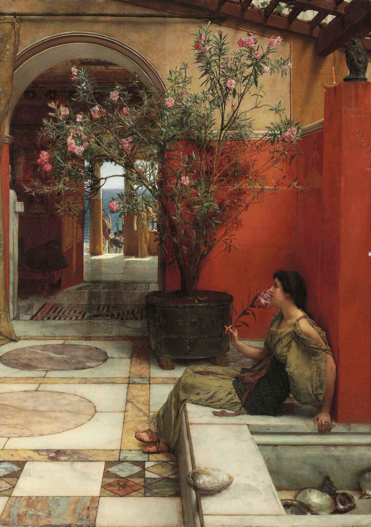 Sir Lawrence Alma Tadema Zakkumlar - An Oleander