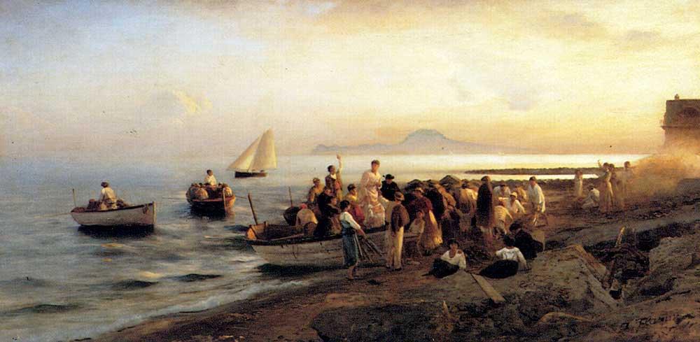 Albert Flamm Kıyıda İnsanlar