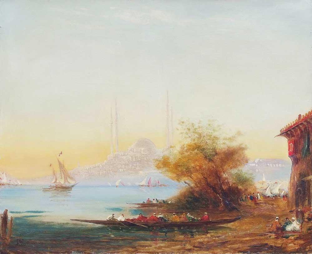 Alfred August Felix Bachmann İstanbul Manzarası ve Ayasofya