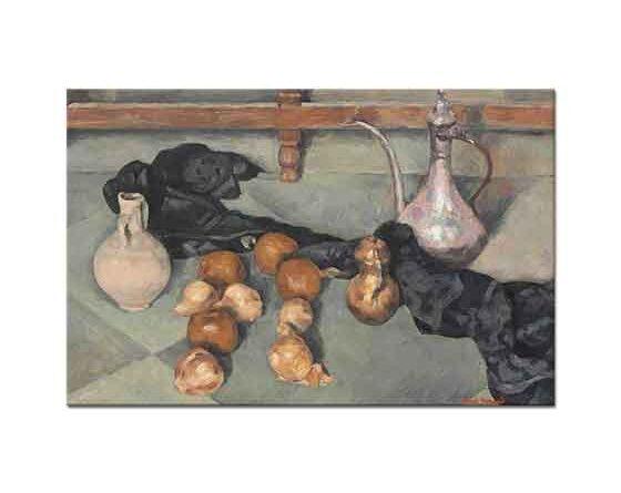 Emile Bernard Sürahi ve Soğanlar ile Natürmort