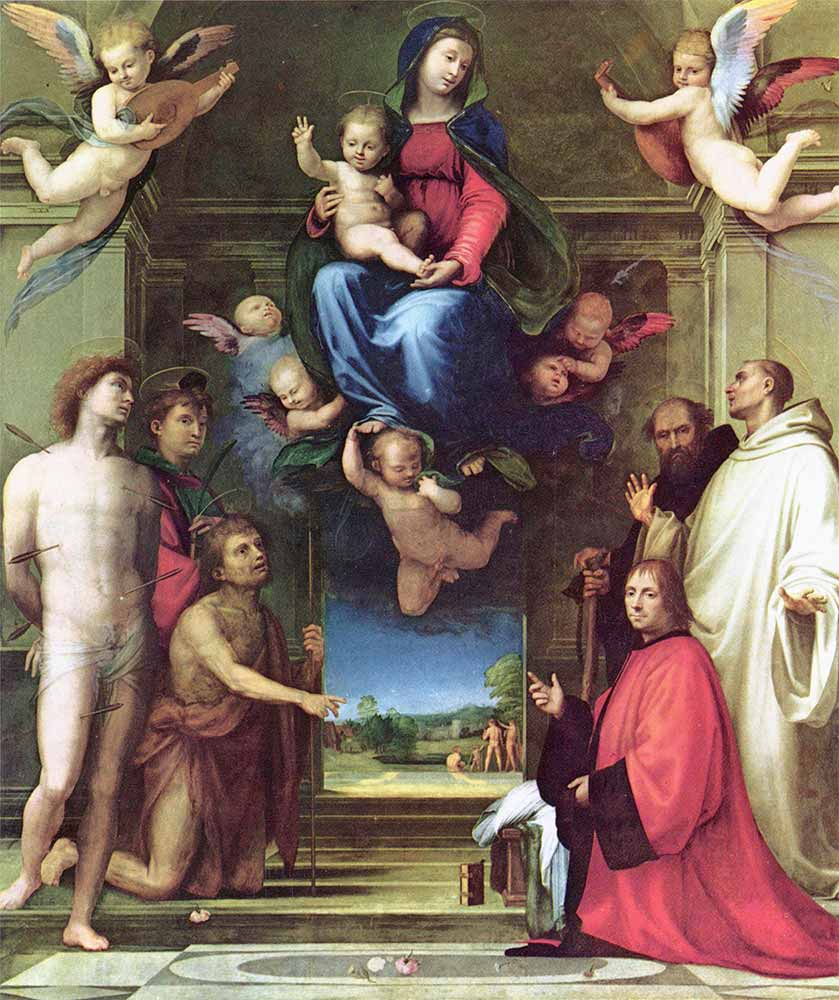Fra Bartolomeo Azize Meryem ve Jean Carandolet